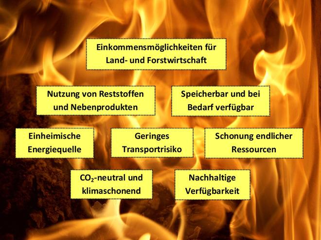 Wunderbar ... Wie Aus Der Abbildung Ersichtlich Wird, Bietet Gerade Auch Der  Regenerative Energieträger Holz Viele Vorteile ...