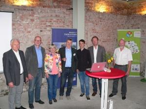 Ein Teil der Vorstandsmitglieder des Vereins Energievision Frankenwald e.V.